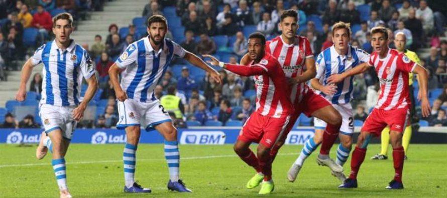 Girona – Real Sociedad: La Liga, Etapa a 25-a (25 februarie)