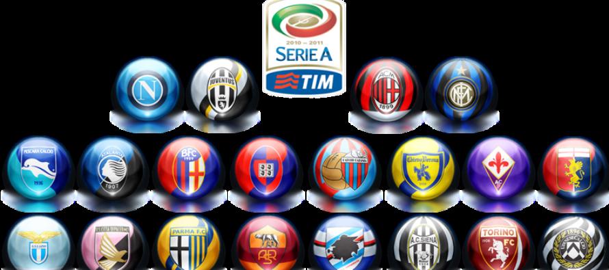 Clasament Italia, Serie A
