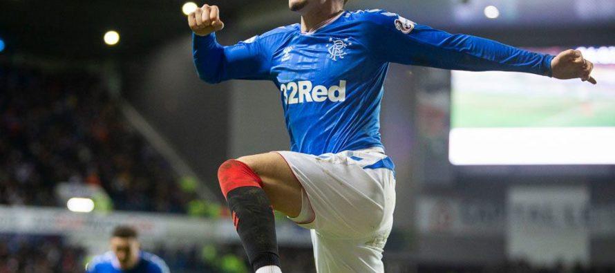 Ianis Hagi a marcat primul său gol la Rangers, chiar de ziua tatălui său