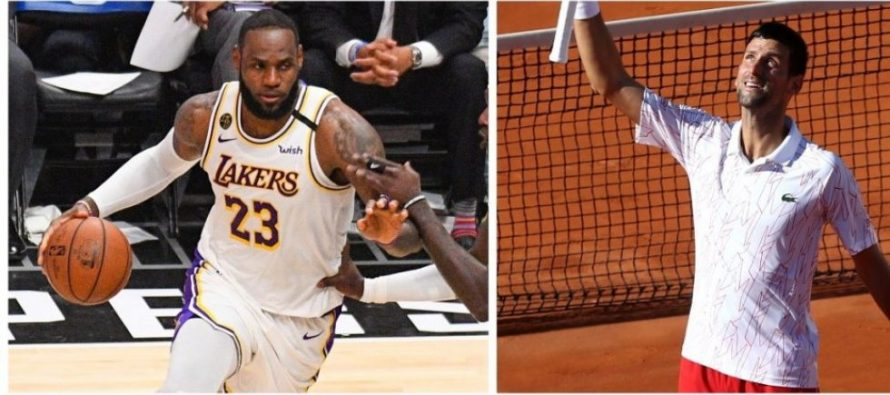 Djokovic il provoaca pe LeBron James care ii raspunde