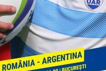 Rugby: România întâlnește Argentina, la București