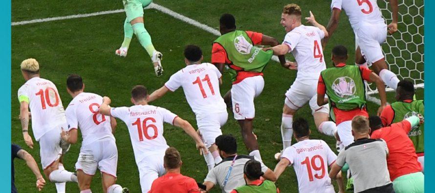 Franța a fost eliminată de Elveția de la Euro 2020 după un penalty ratat de Mbappe